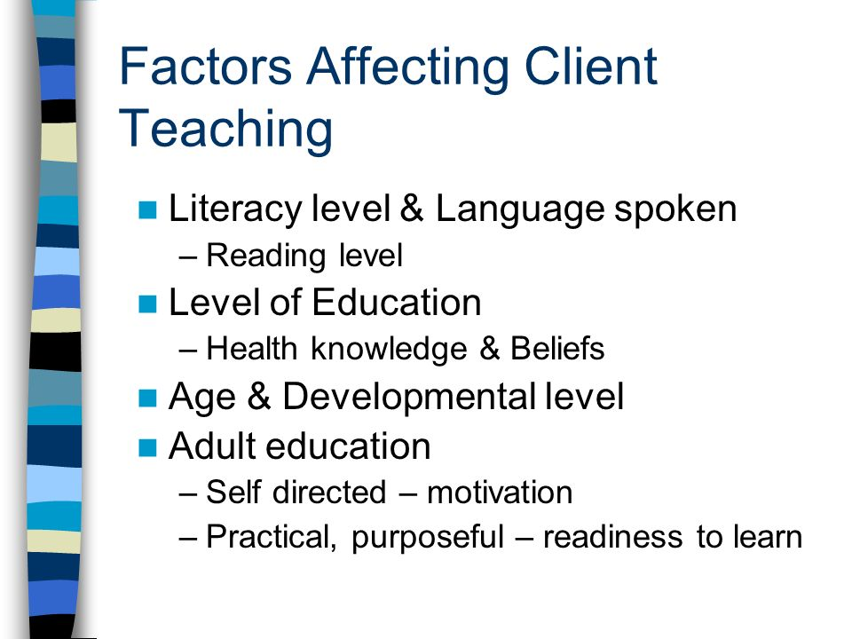 Factors Influencing Adults Returning To Learning