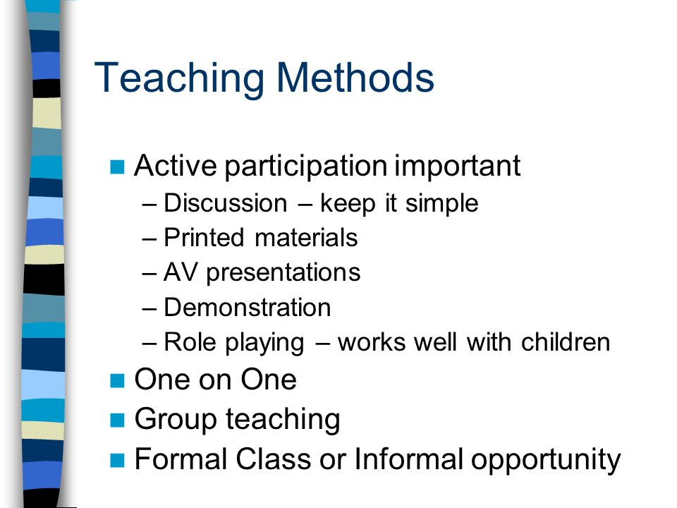 The importance of methodology in teaching