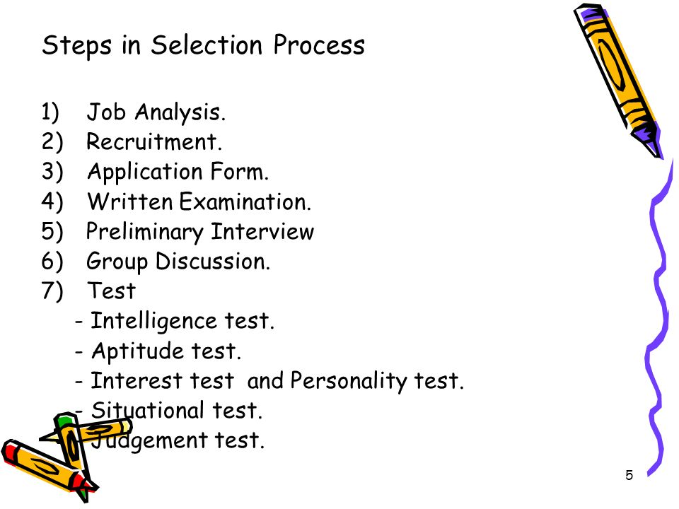 intelligence testing and the job selection