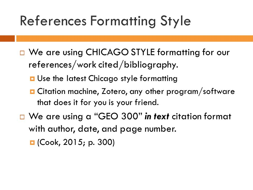chicago style of writing