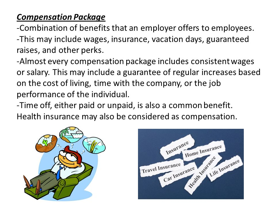 what is a compensation package