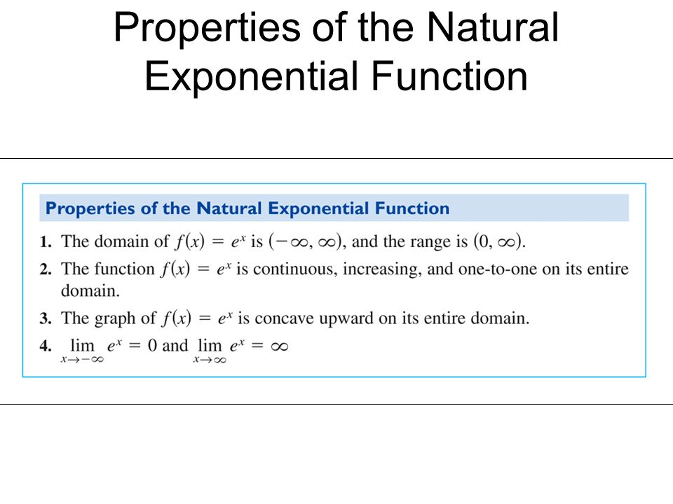 Definition of the Natural Exponential Function - ppt video ...