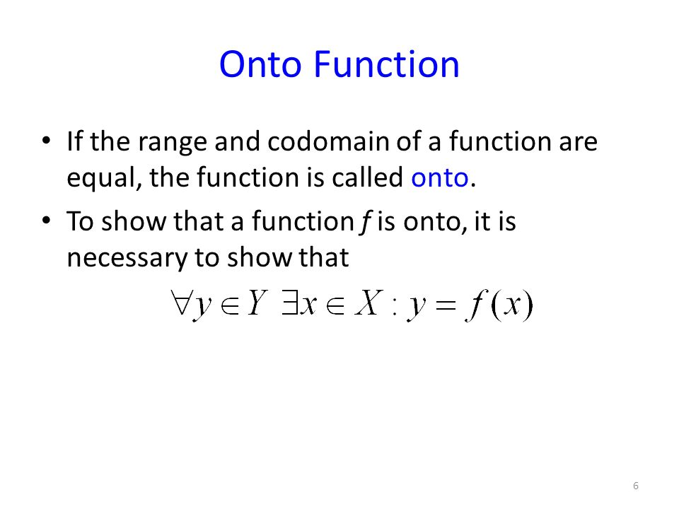 how to show a function is onto