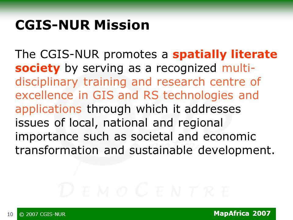 CGIS-NUR Mission
