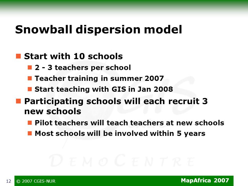 Snowball dispersion model