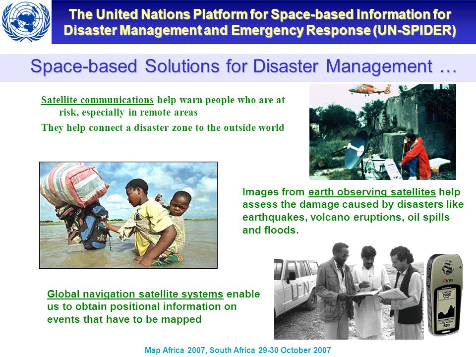 Space-based Solutions for Disaster Management …