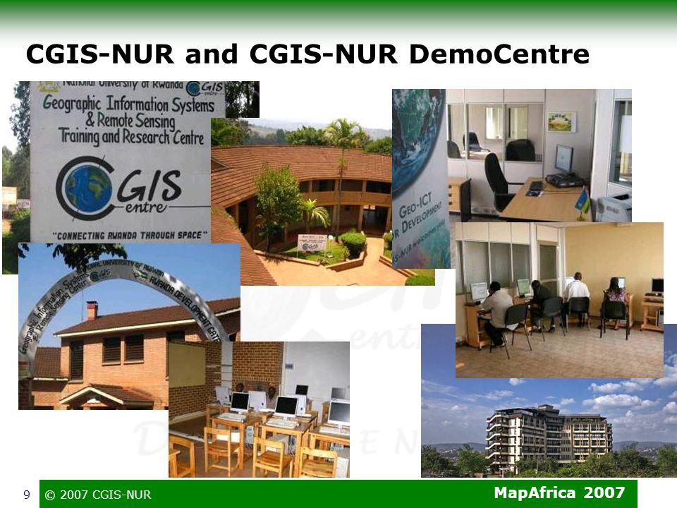 CGIS-NUR and CGIS-NUR DemoCentre
