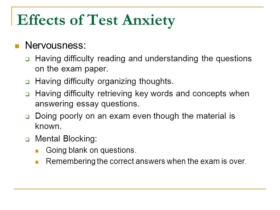 test anxiety and stress management ppt 3 effects of test anxiety