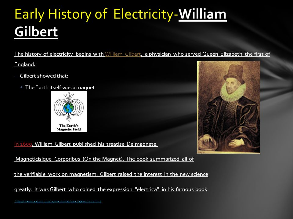 the origin and history of electricity Its history spans from the 7th electricity, the arrays acted as flat-plate thermal collectors the history of solar.