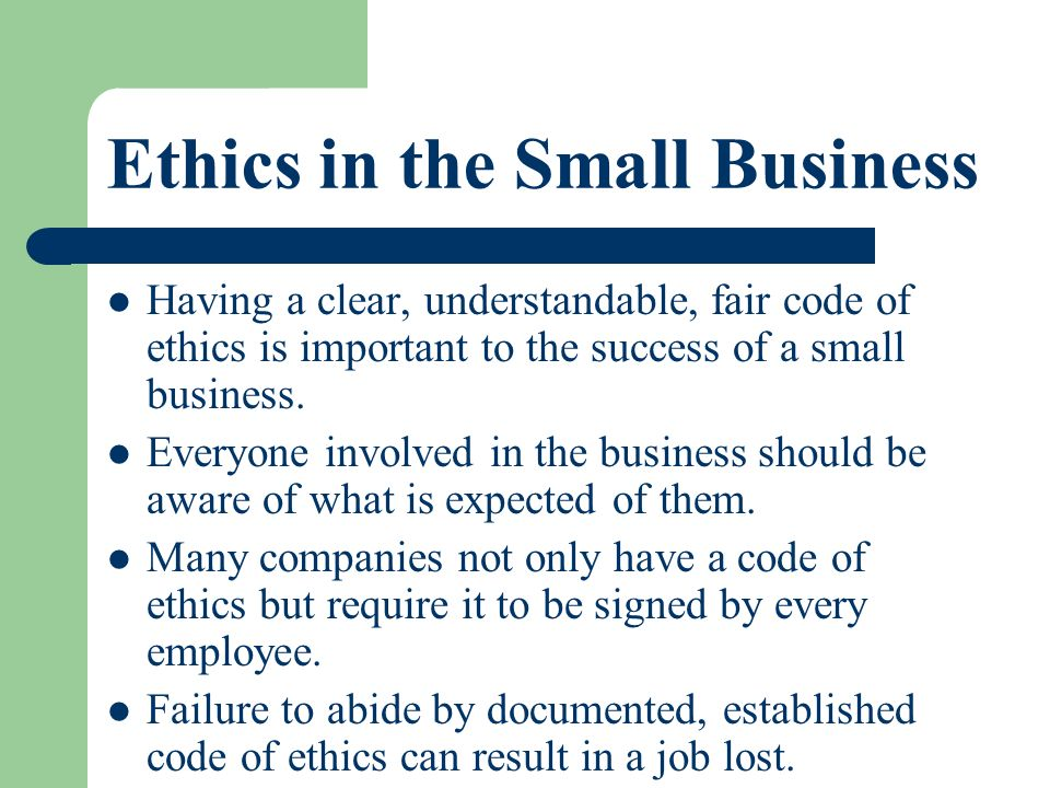 The malaysian business code of ethics