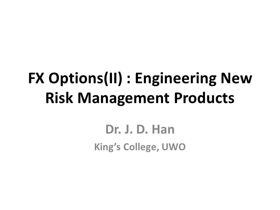 Fx options products