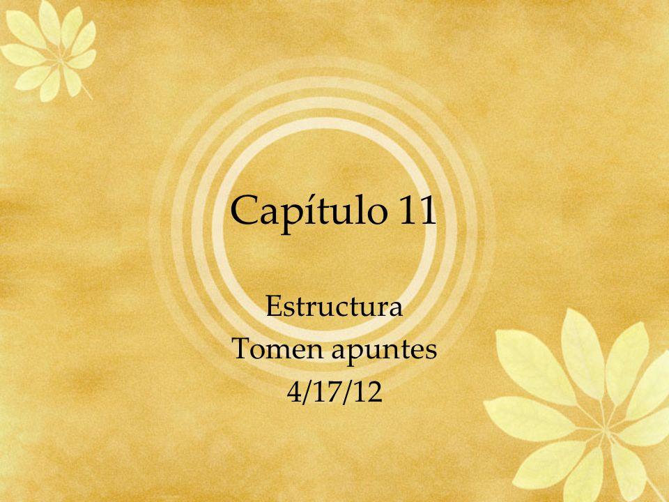 Estructura Tomen apuntes 4/17/12