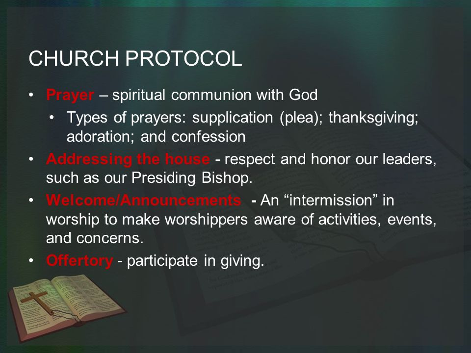 Church Protocol and Etiquette - ppt video online download