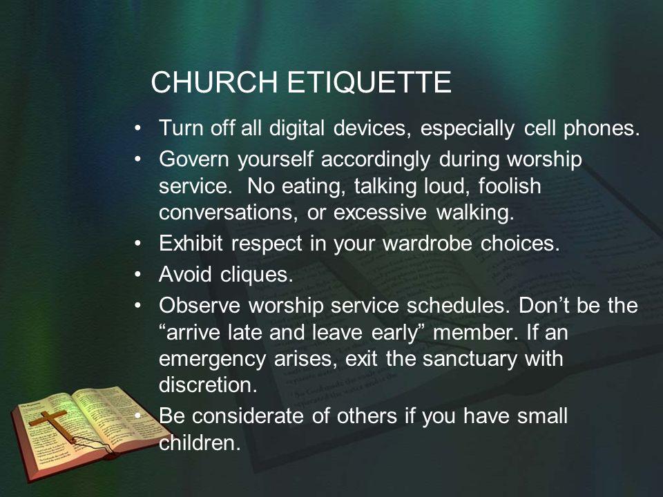 church protocol and etiquette