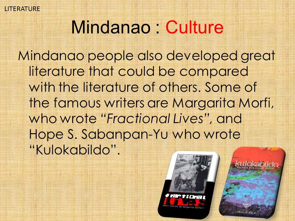 Poetry of mindanao - Homework Sample - August 2019