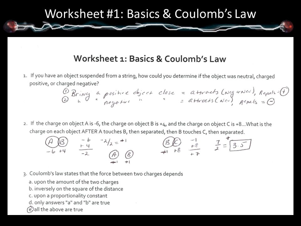 Unit 5 Packet Answers Notes ppt video online download – Coulombs Law Worksheet