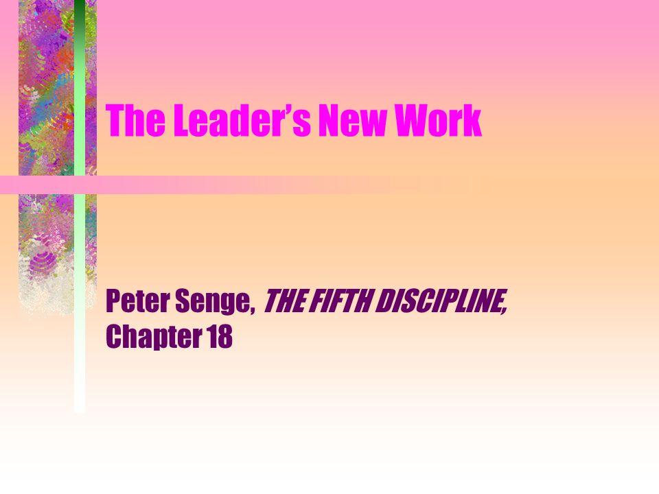 peter senge the fifth discipline chapter 18