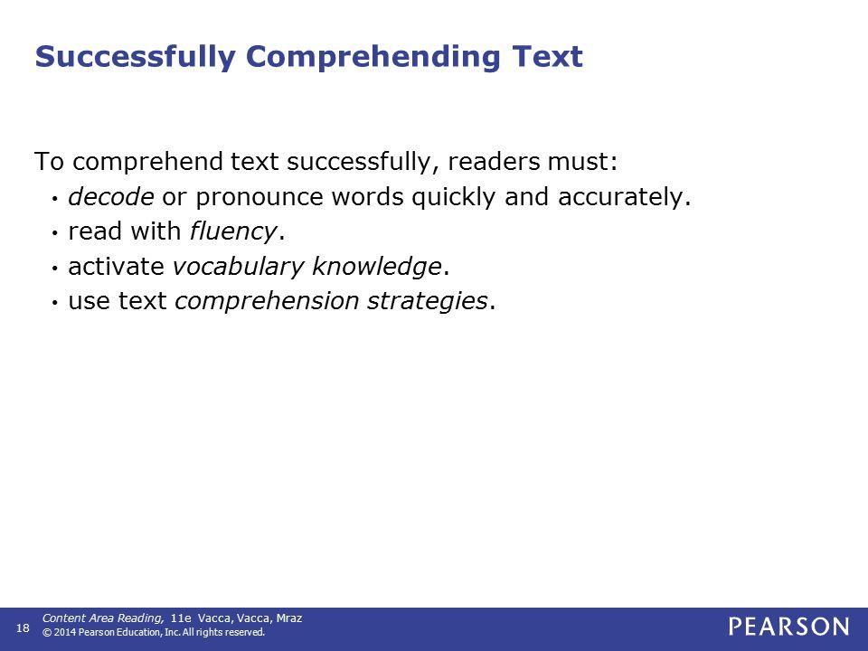 Characteristics of Good Readers