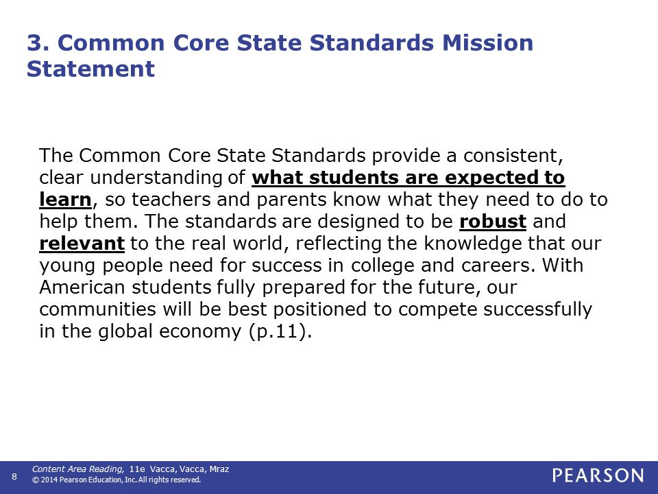 Common Core State Standards Ultimate Goals