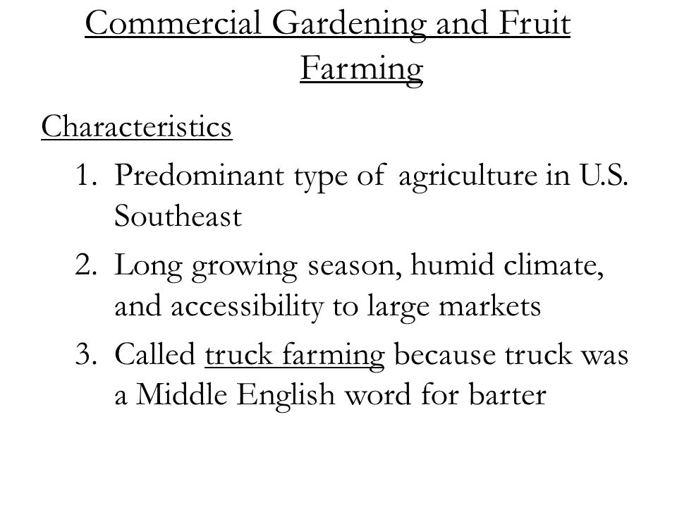 Topic: Commercial Farming - ppt video online download