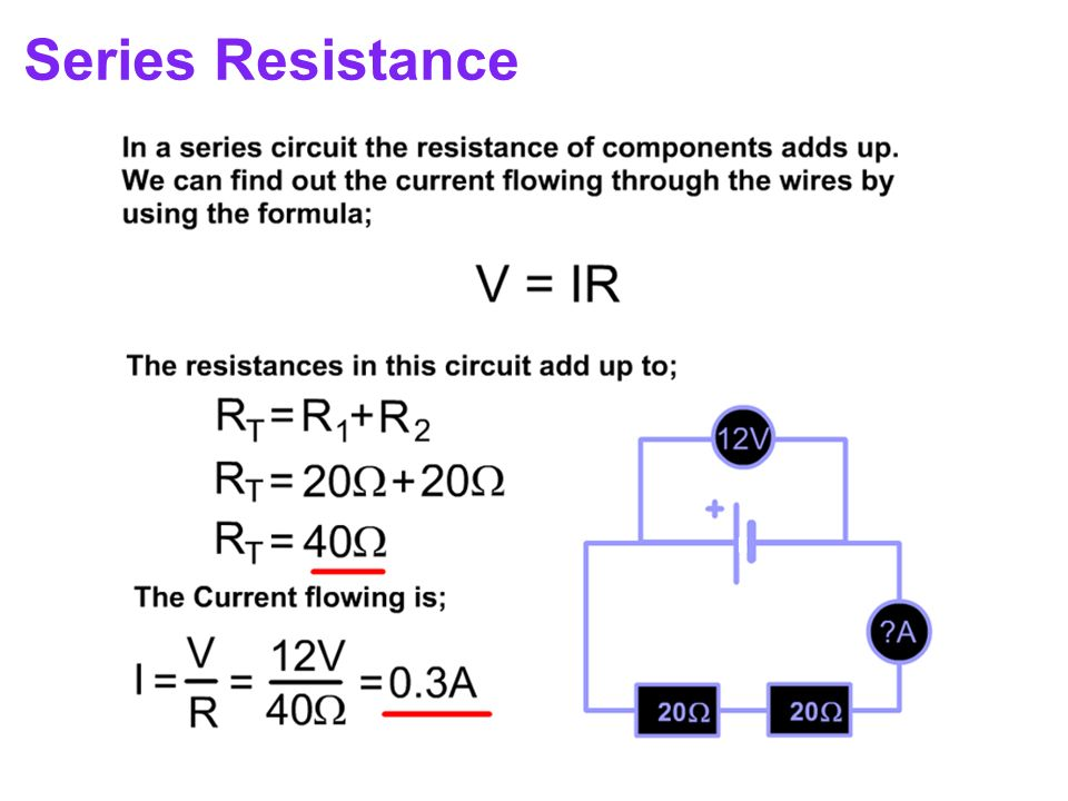 how to find resistance in a series parallel circuit