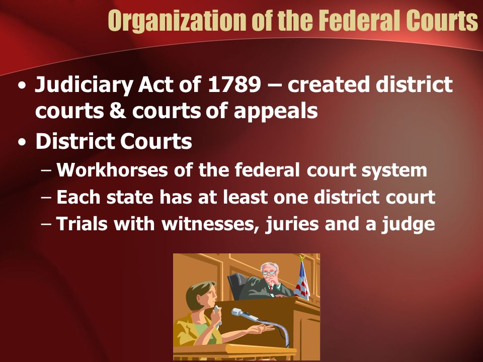 Organization of the Federal Courts