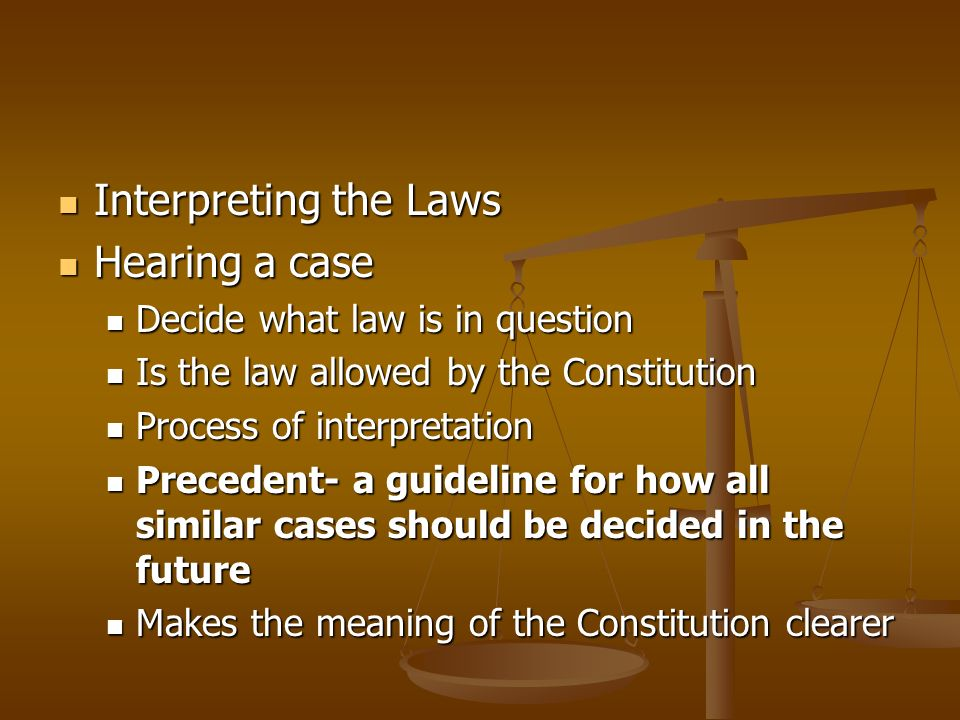 interpreting laws and court decisions As noted on the other pages of this guide, an annotated version of the united states code will include references to court cases that have interpreted, applied, or discussed a rule.