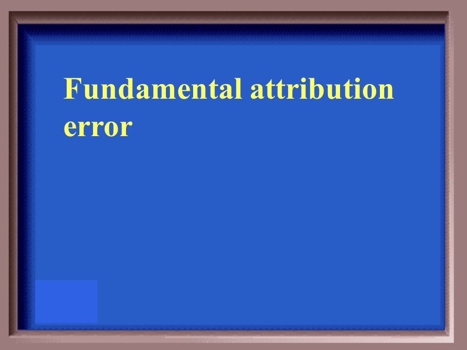 fundamental attribution error theories General overviews perhaps the best introduction to the fundamental attribution error/correspondence bias (fae/cb) can be found in the writings of the two theorists who first introduced the concepts.