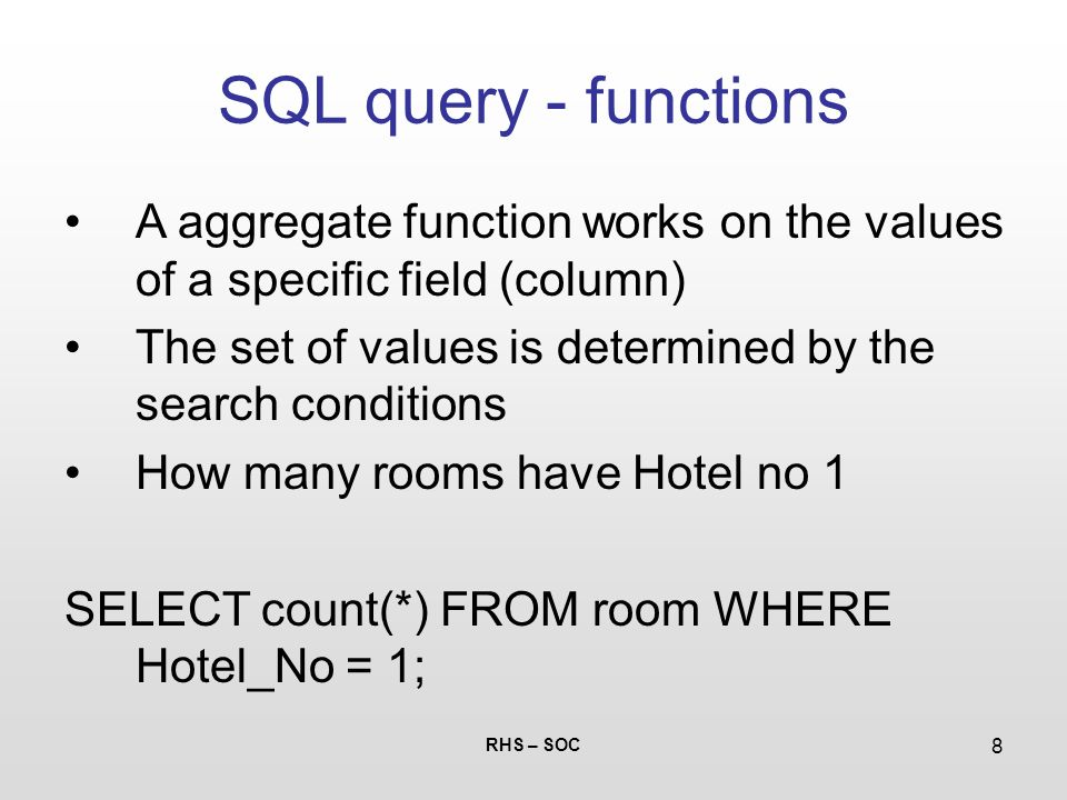 how to call a function in sql query