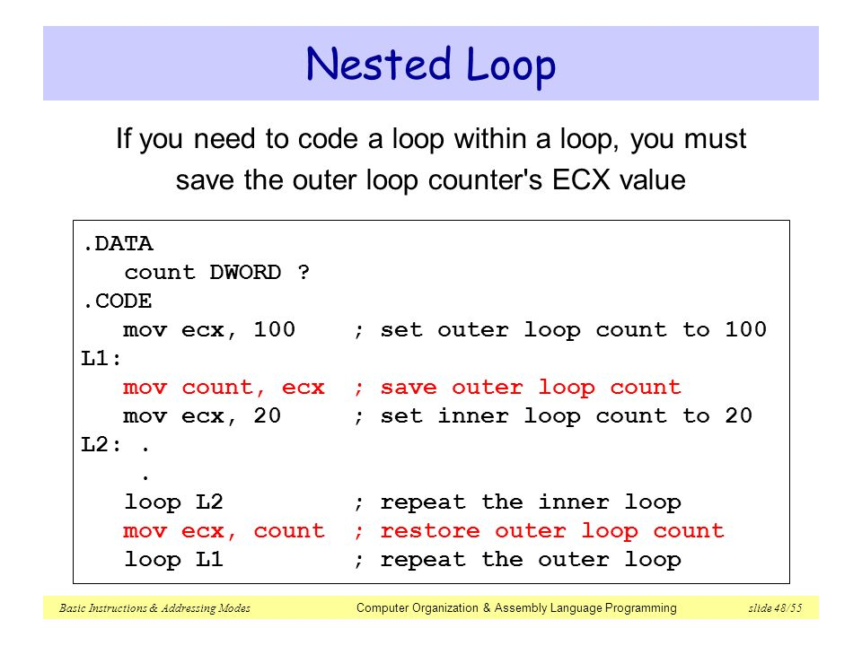 how to create a loop counter in c