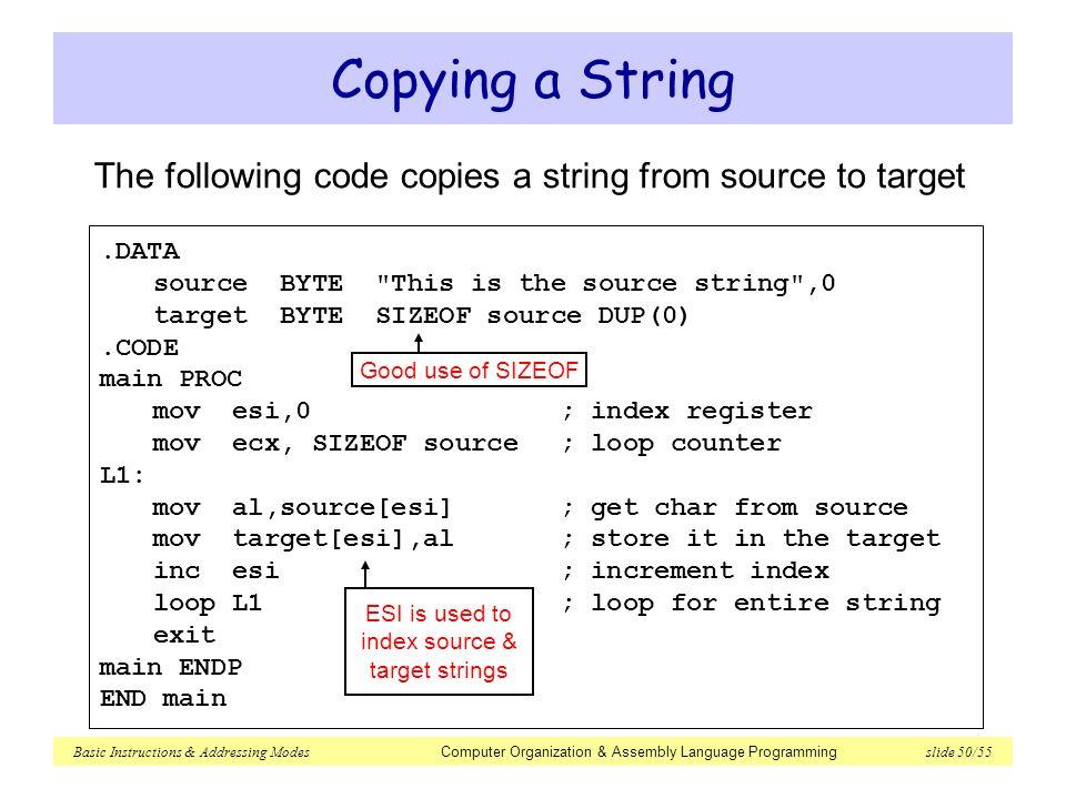 basic instructions addressing modes   ppt download