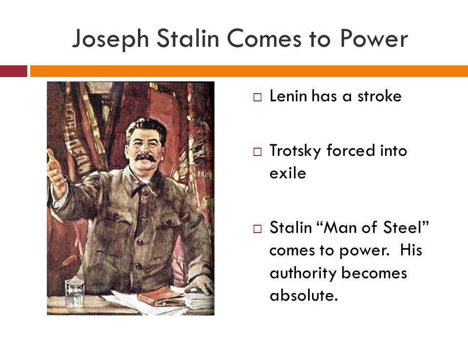 Joseph Stalin Comes to Power