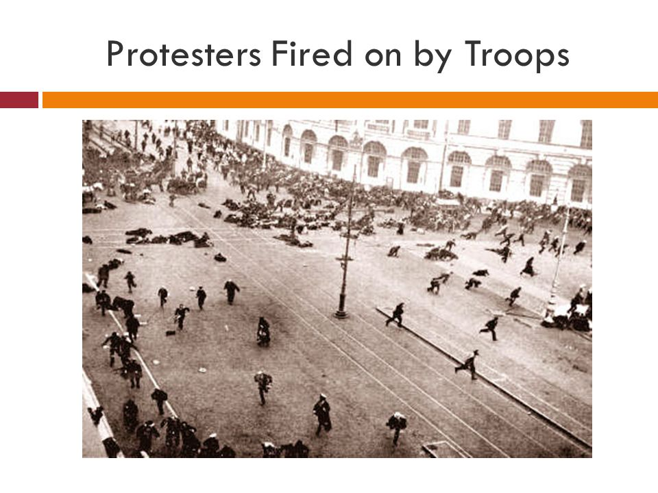 Protesters Fired on by Troops