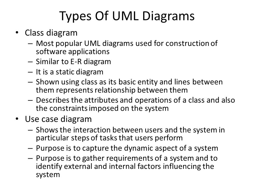 Entity relationship diagrams ppt video online download 38 types of uml diagrams ccuart Image collections