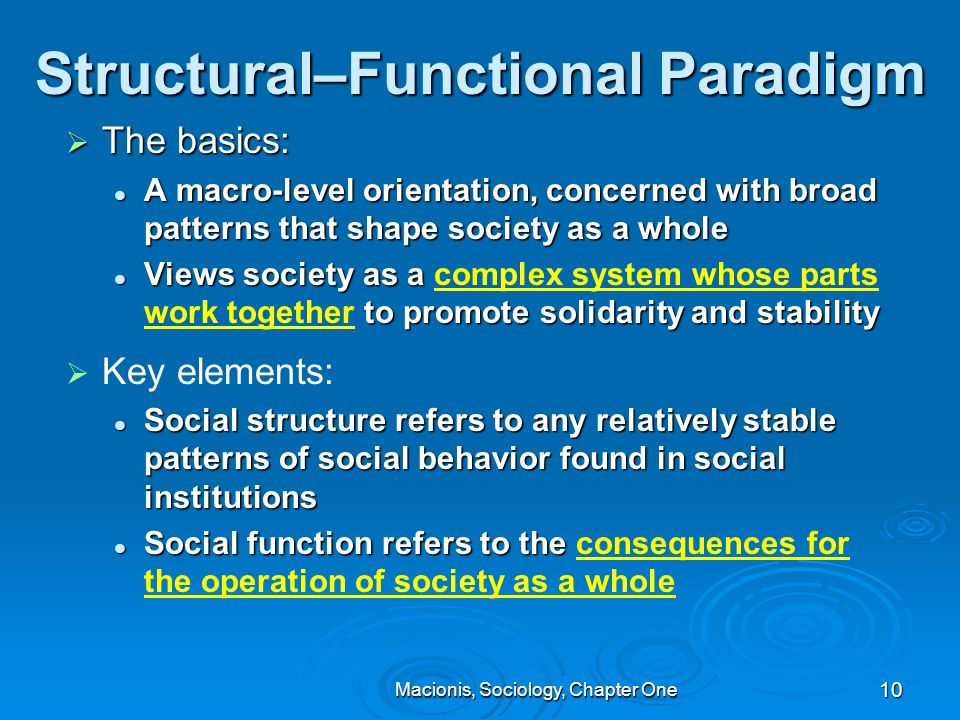 structure functionalism