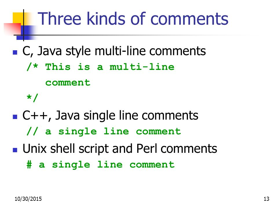 how to make multi line comment in perl