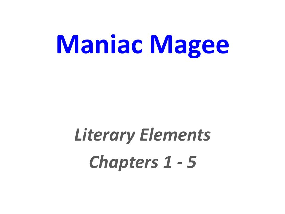 maniac magee literary elements ppt video online  maniac magee literary elements 2 literary