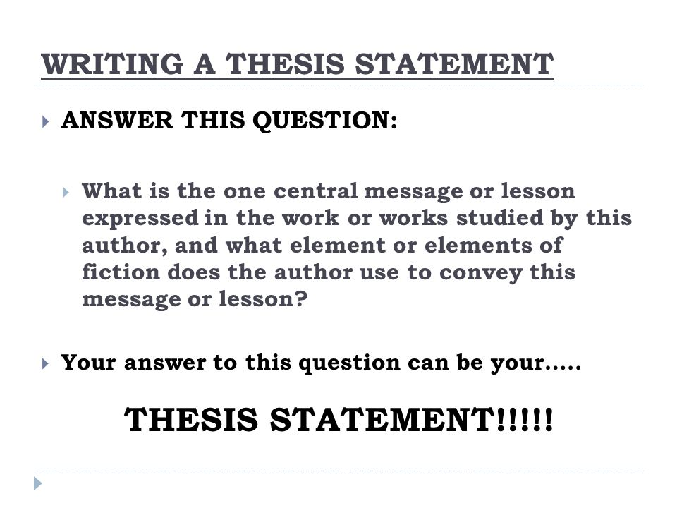 the thesis statement keeps your writing Find yourself confounded by thesis statements writing an excellent thesis statement doesn't keep playing your next how to write a thesis statement related.