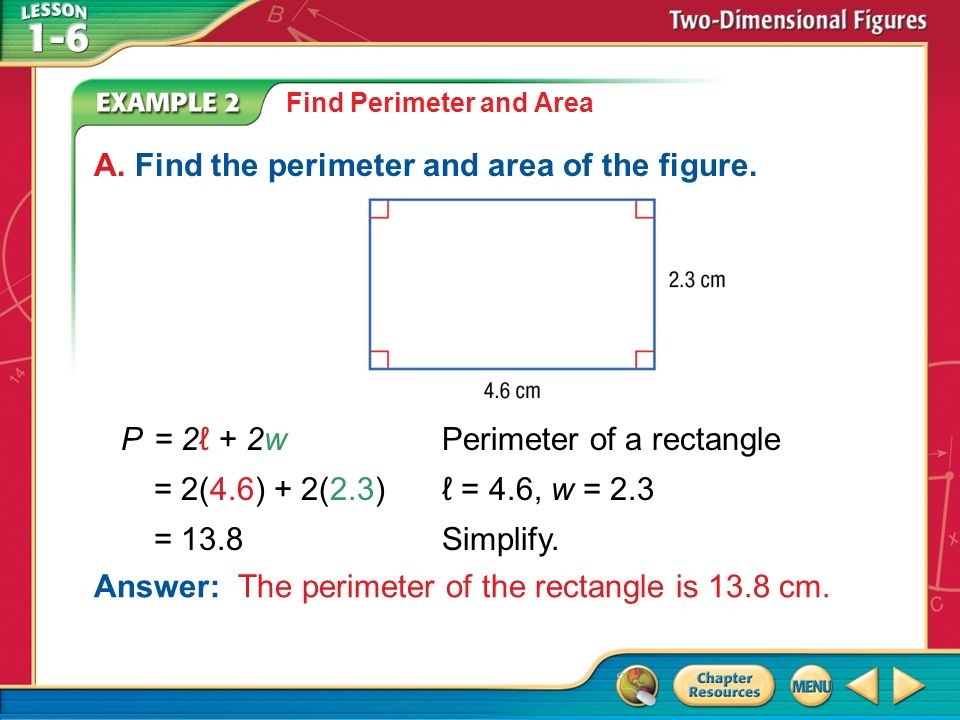 Concept ppt download a find the perimeter and area of the figure ccuart Gallery