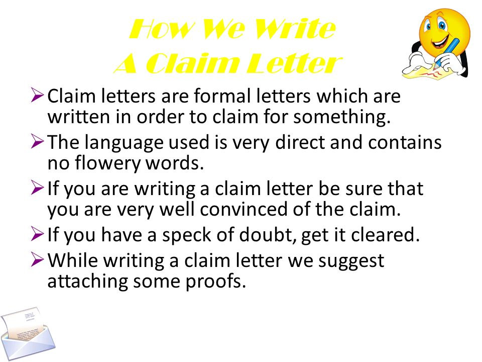 claim letters