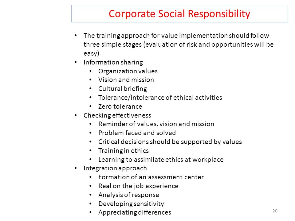 an analysis of the concepts of corporate social responsibility Theorising corporate social responsibility as an  uncommon with concepts found in the social  analysis of corporate social responsibility :.