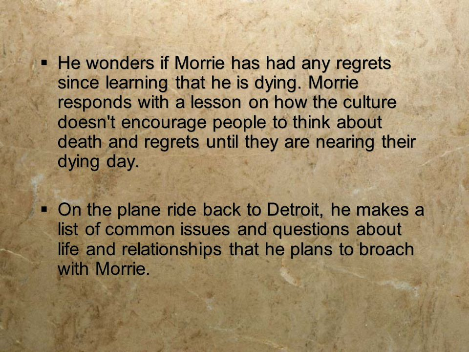 tuesdays with morrie final thesis