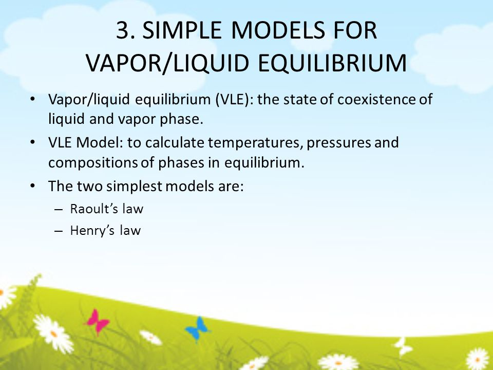 vapor liquid equilibrium Vapor pressure is the result of the dynamic equilibrium that exists in every liquid read on to learn about what goes on at a microscopic level when you look a seemingly stable glass of water.