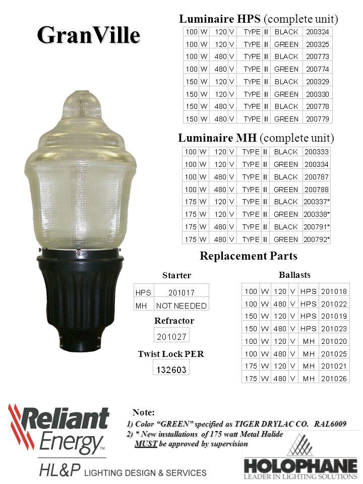 granville luminaire hps (complete unit) luminaire mh (complete unit) Light Switch Wiring Diagram