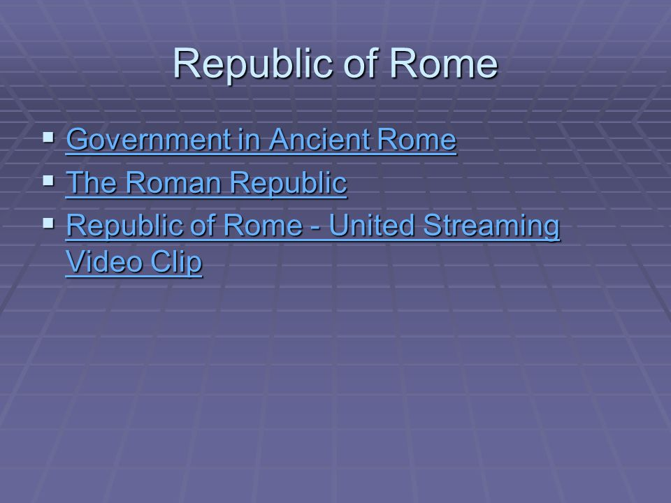 roman republic athenian democracy and the Rome was a city-state in italy next to powerful neighbors  in the democratic  athens) was anathema in the roman eyes.