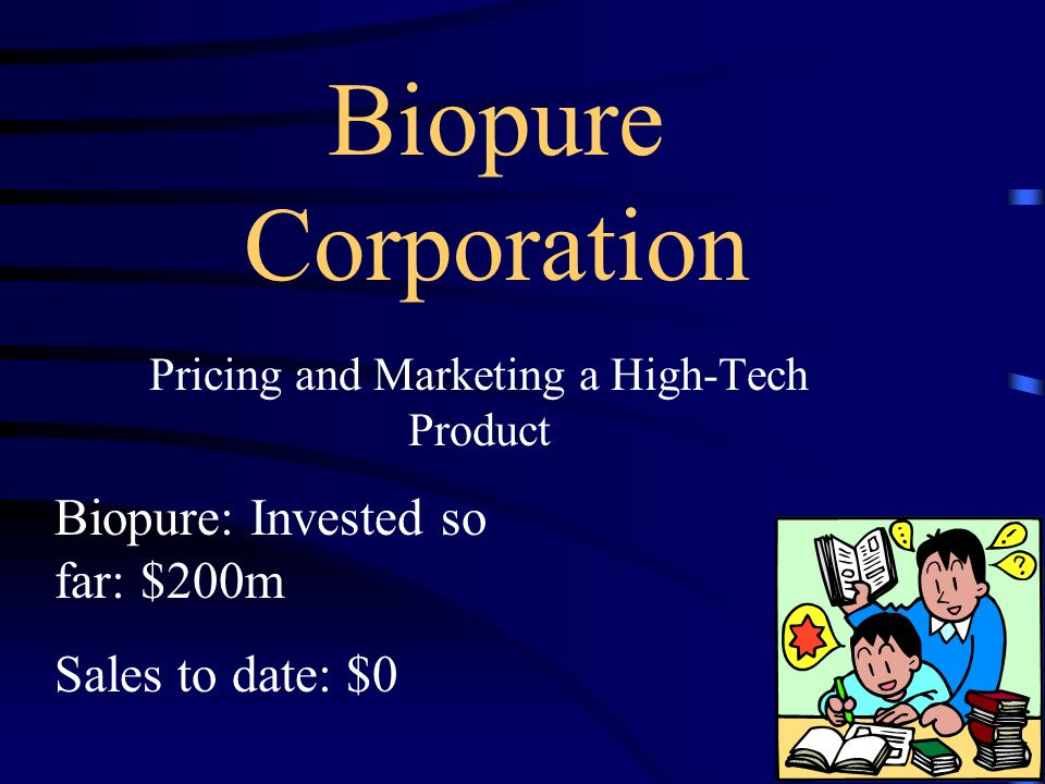biopure case questions Go to market strategy - hemopure 1  some of the questions surrounding which product to support are:  biopure case solution.