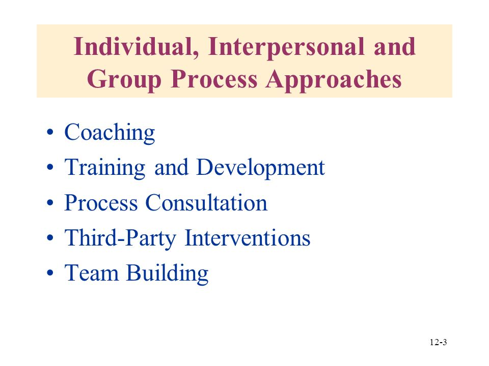 interpersonal group process Schutz referred to these group dynamics as the interpersonal underworld, group processes which are largely unseen and un-acknowledged he discovered several mass group processes which involved the group as a whole adopting an orientation which.