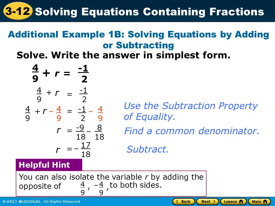 how to solve inequalities with fractions and variables in denominator