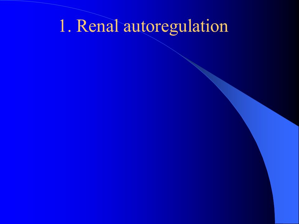 renal autoregulation The myogenic mechanism is how arteries and arterioles react to an increase or decrease of blood pressure to keep the blood flow within the blood vessel myogenic mechanisms in the kidney are part of the autoregulation mechanism which maintains a constant renal blood flow at varying arterial.