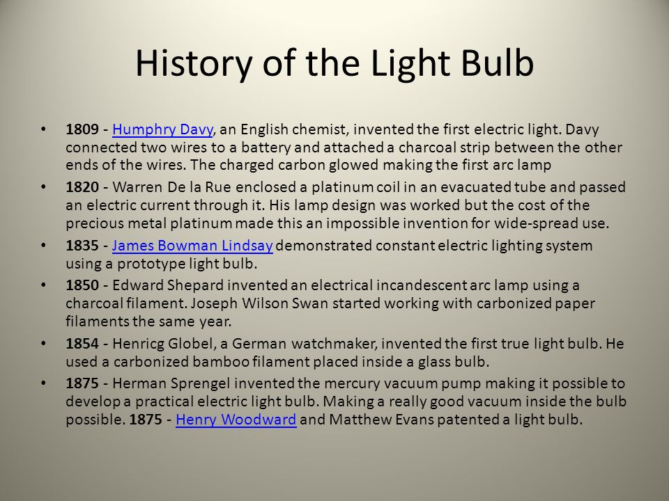 essay on the invention of the light bulb Thomas edison is known for coming up with lots of inventions that changed our  lives the light bulb and phonograph are among the most.